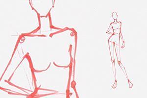 服装手绘技法《时装画人体动态》